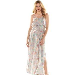 Lauren Conrad floral maxi dress, NWT
